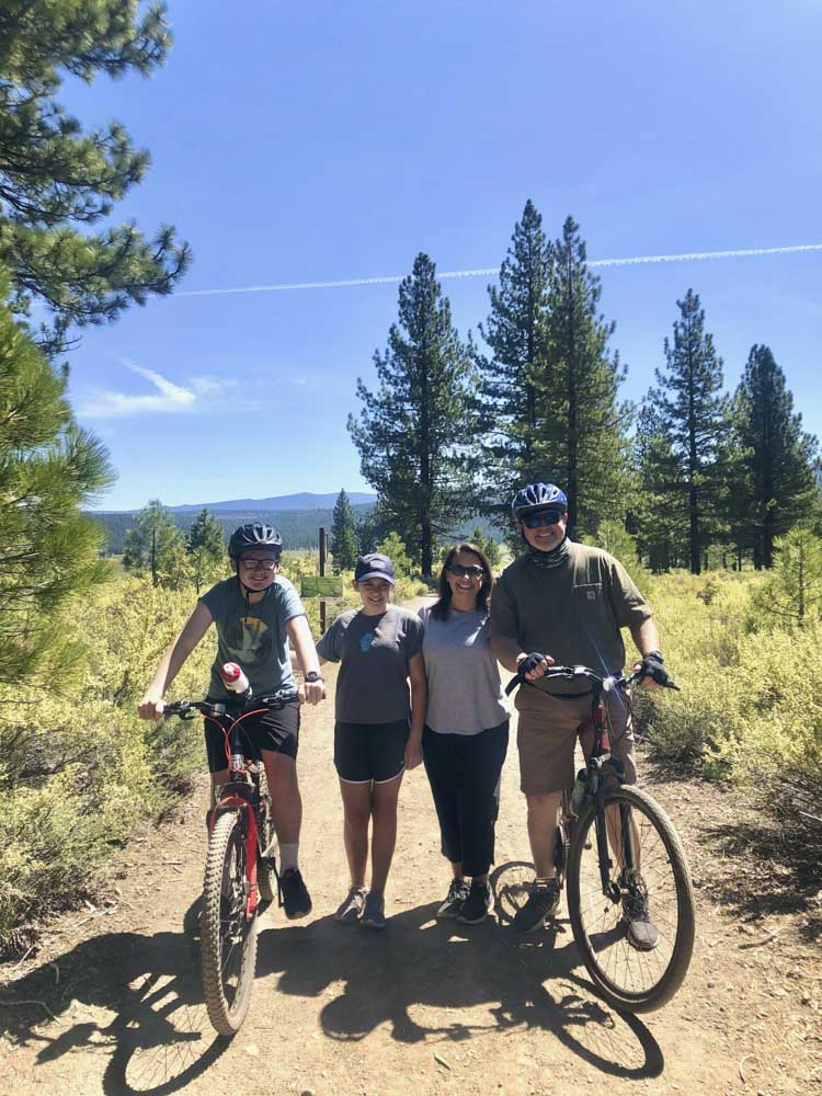 dr orcutt and family on bikes